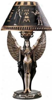 Isis Egyptian Sculptu5al Table Lamp
