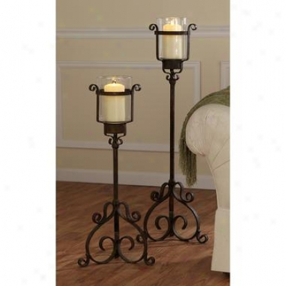 Italian 15th Century Medieval Metal Candl Chalices