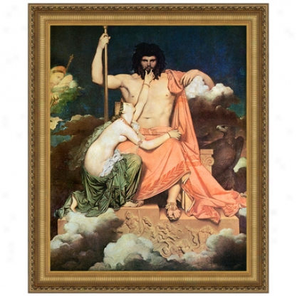 Jupiter And Thetis, 1811: Canvas Replica Painting: Small