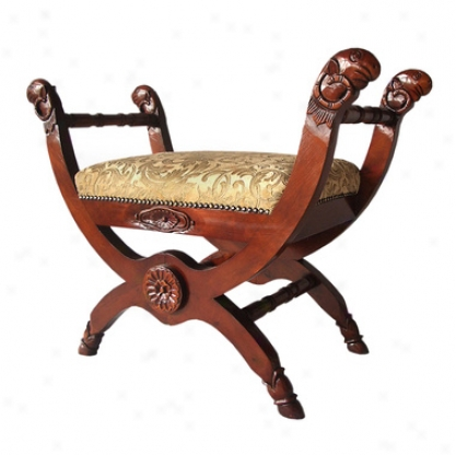 King Leopold's Cross-frame Tabouret Bench