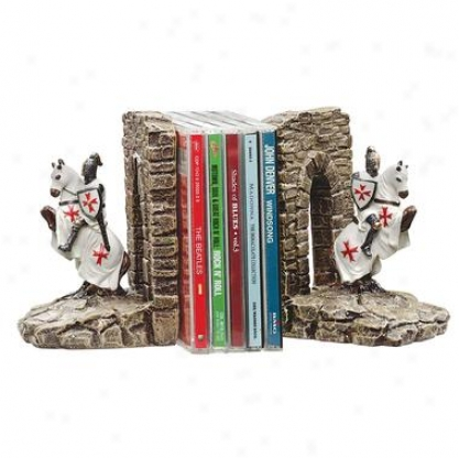 Knights Of The Digital Province Sculptiral Bookends