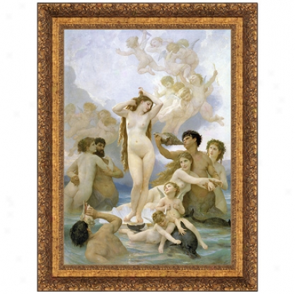 La Naissance De Venus, 1859 Canvas Autograph copy Painting (the Birth Of Venus): Small