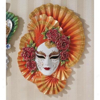 Ladies Of The Carnivale Scullptural Wall Mask: Countess Alessandra
