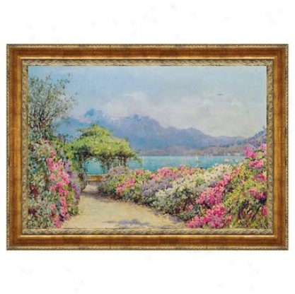 Lake Como From The Villa Canvas Replica Painting: Small