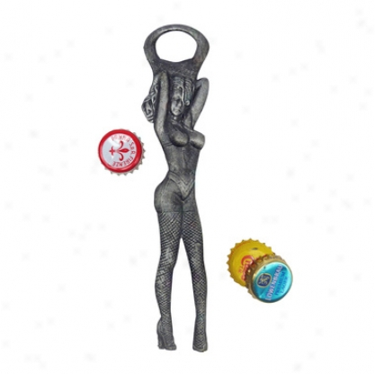 Las Vegas Showgirl Cast Iron Bottle Opener