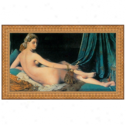 Le Grande Odalisque, 1814, Canvas Replica Paintkng: Small