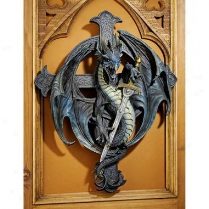 Legend Of The Dragon's Cross Wall Sculpture
