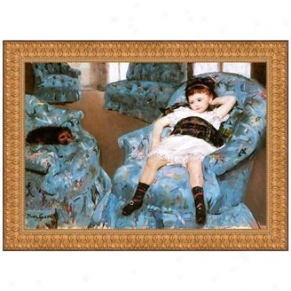 Little Girl In A Blue Armchair, 1878 Canvas Replica Painting: Sjall