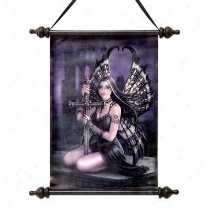Lost Love Gpthic Fairy Canvas Wall Scroll Tapestry
