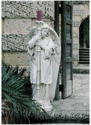 Splendid Angel Guardians Of The Gate Large: Left