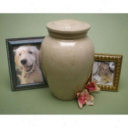 Marble Memorial Cremation Urn: A Cherished Pet's Fnial Resting Place
