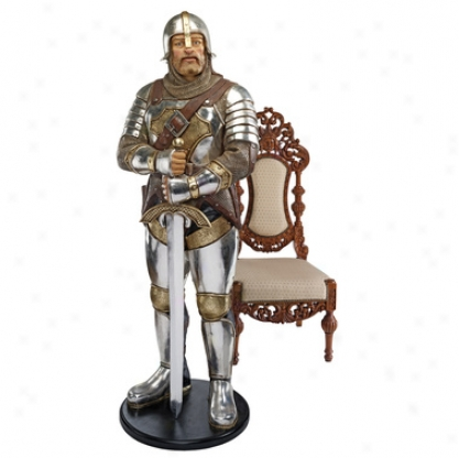 Medieval Knight Of The Round Tavle  Life-size Statue