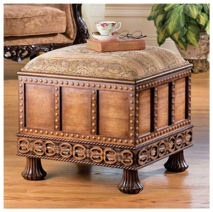Medieval Strong Box Ottoman