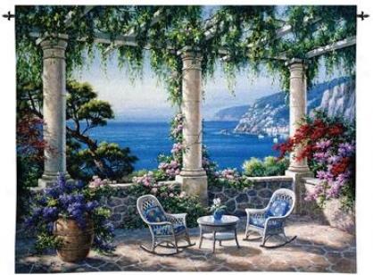 Mediterranean Landscape Wall Tapestry