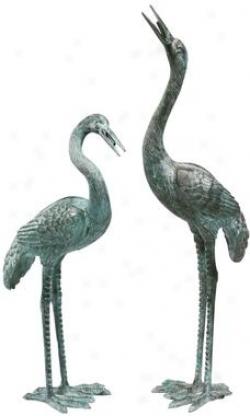 Medium Bronze Crane: Set