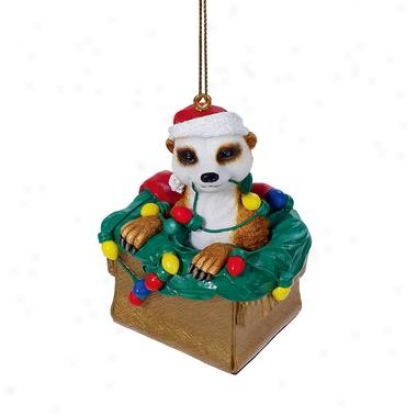 Merry Meerkat Holiday Ornament
