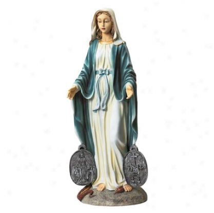 Miraculous Medal Madonna Sacred Garden Statue