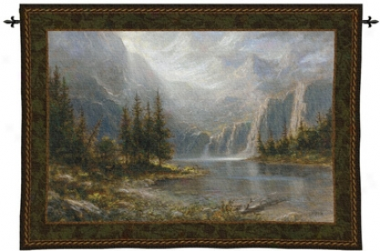 Mountain Heights Landscape Wall Tapestry