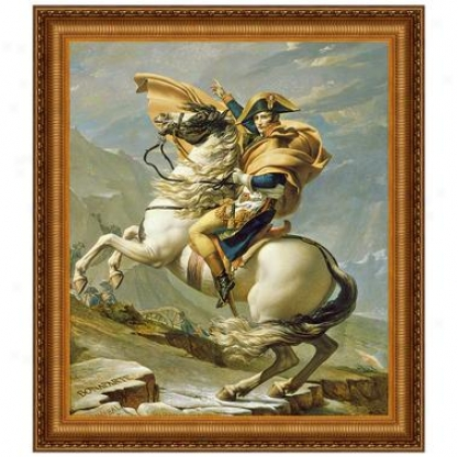 Napoleon Crosses The Alps, 1805, Canvas Replica Painting: Small