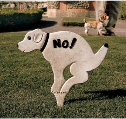 No Pausing Pooch Lawn Symbol: Large