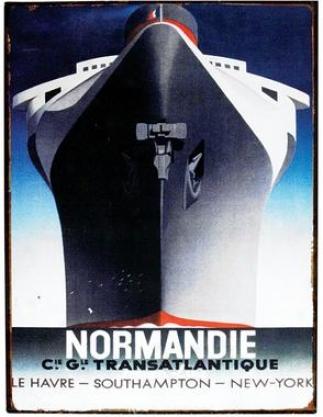 Normandie Tin Sign