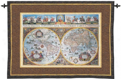 Nova Terarum Orbis: Old World Map Wall Tapestry