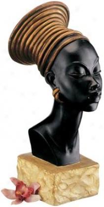 Nubian Kandake Sculptural Bust Garden Decor Catalog