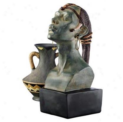Nubian Princess Bust Sculpture