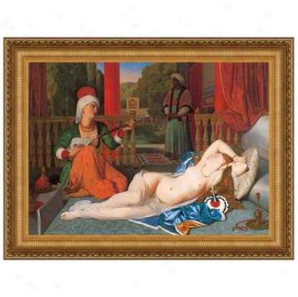 Odalisque With Slave, 1842, Canvas Replica Painting: Little