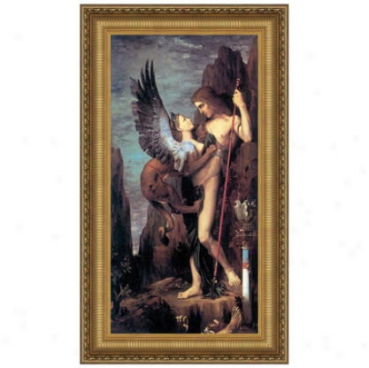 Oedipus And The Sphinx, 1864, Canvas Replica Painting: Little