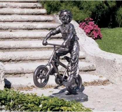 Out Against A Ride Garden Sculpture