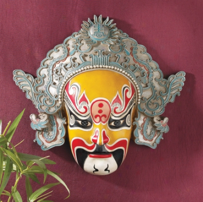 Peking Opera Mask Wall Sculpture: Dian Wei