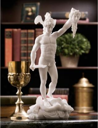 Perseus Beheading Meddusa Bonded Marble Statue