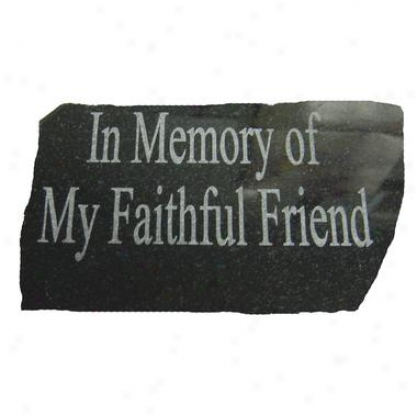 Personalizrd Natural Ebony Granite Pet Memorial Statue: Small