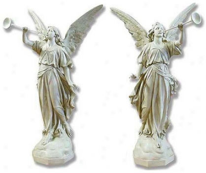 Pescara Announcement Angels Religious Statue: Set