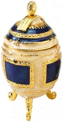 Petyr Faberge-style Collectible Enameled Egg
