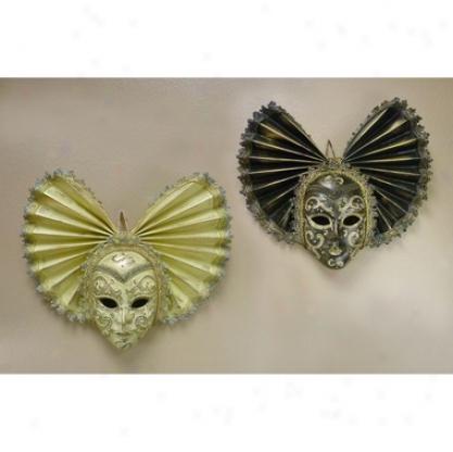 Piccola Signore Del Cinquecento: Ebano & Crema Carnivale Masks