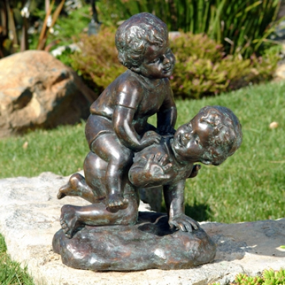 Cat Paw Prints Cast Stone Memorial Statue Medium Garden