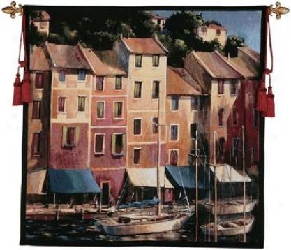 Portofino Waterfront Tapestry