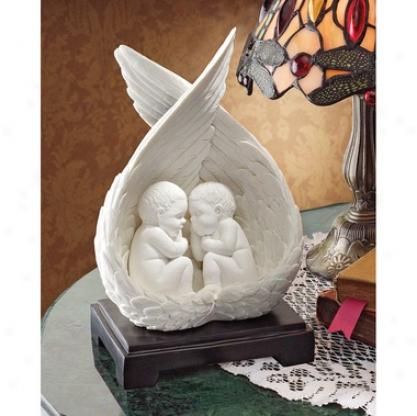 Precious Slumber Baby Angel Bonded Marble Statue