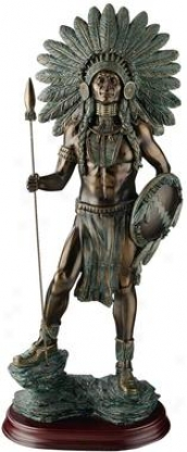 Proud Chieftain Warrior Sulpture