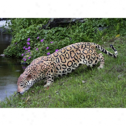 Prowling Spotted Jaguar Statue