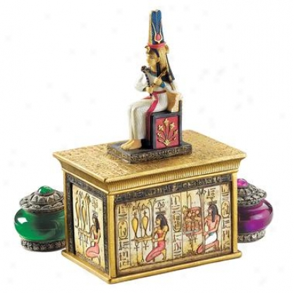 Queen Cleopatra Egyptian Amulet Box