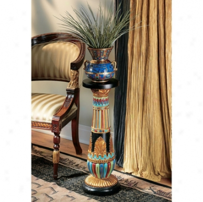 Regal Egyptian Luxor Scuptural Pedestal