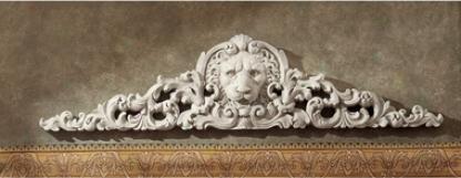 Remoulage Lion Sculptural Wall Pediment