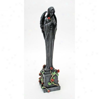 Ring Of Roses Gothic Angel Sculptural Box: Set Of Two