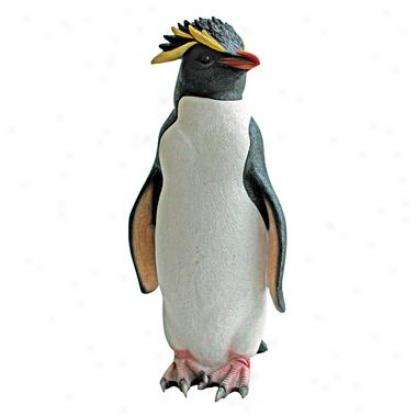 Rock Hoppeer Penguin Statue