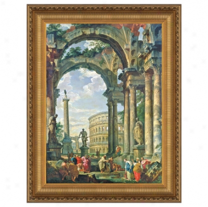 Roman Capriccio, 1735 Canvas Replica Painting: Small