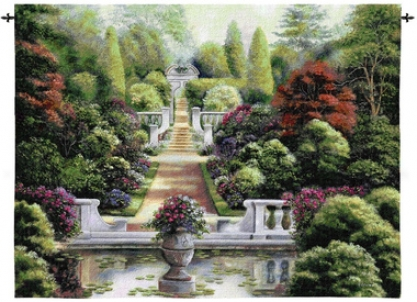 Rose Garden I Landscape Wall Tapestry