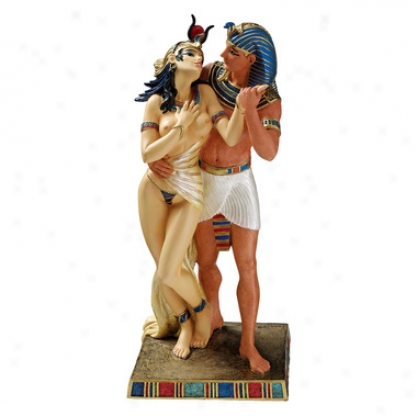 Royal Embrace: Egyptian Pharaoh And Queen Statue